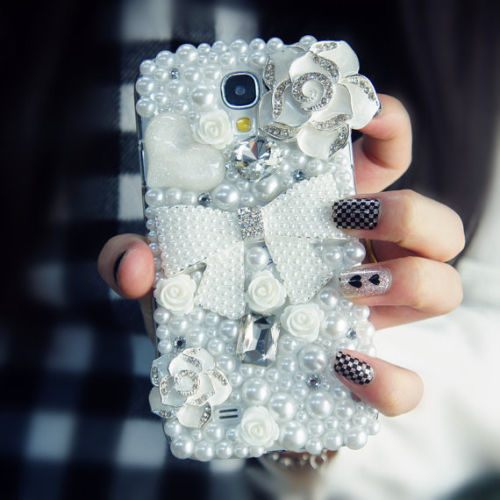 Floral Pearls Bow Bling iPhone 7 Plus, iPhone 6 6s case, iPhone 6 6s Plus case, iPhone 5s SE case, iPhone 5c case, bling wallet case for samsung galaxy note 4 note 5 s7 edge s6 edge s5